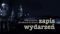 Stan wojenny na ulicach Krakowa - winieta filmu